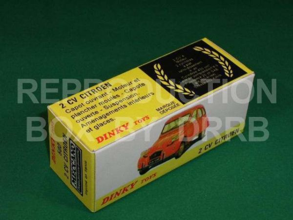 French Dinky #500 Citroen 2CV (1974) - Reproduction Box